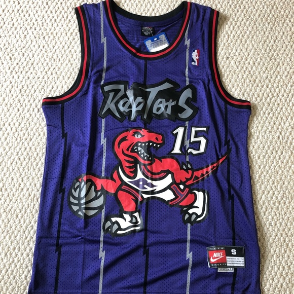 f0c639515 Vince Carter Toronto Raptor Throwback Jersey